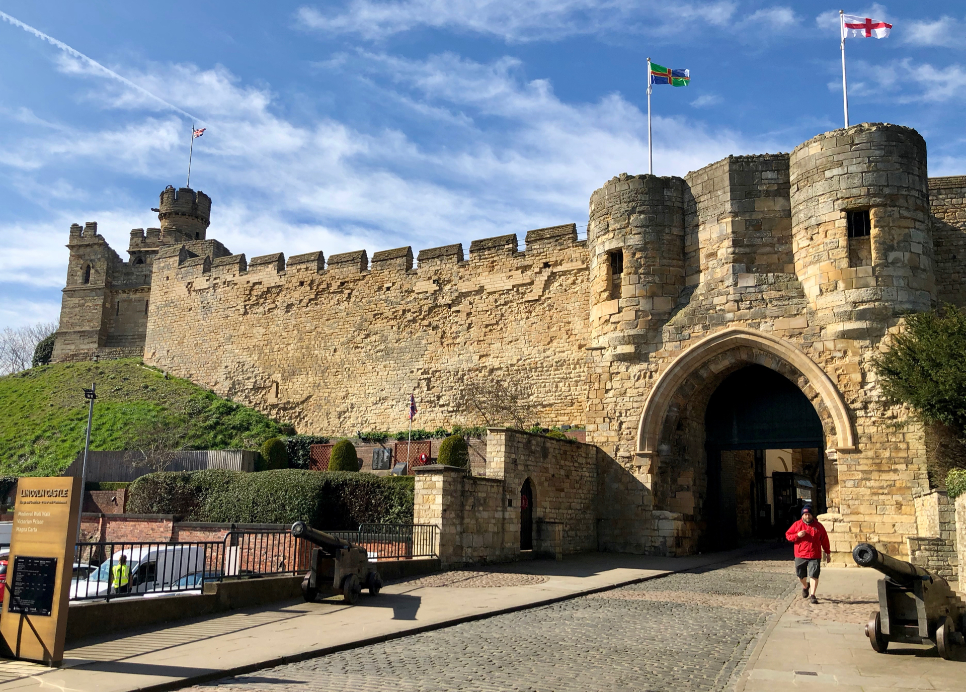 Lincoln Castle - home to one of 4 remaining copies of the Magna Carta. Sadly, I didn't get to see it.
