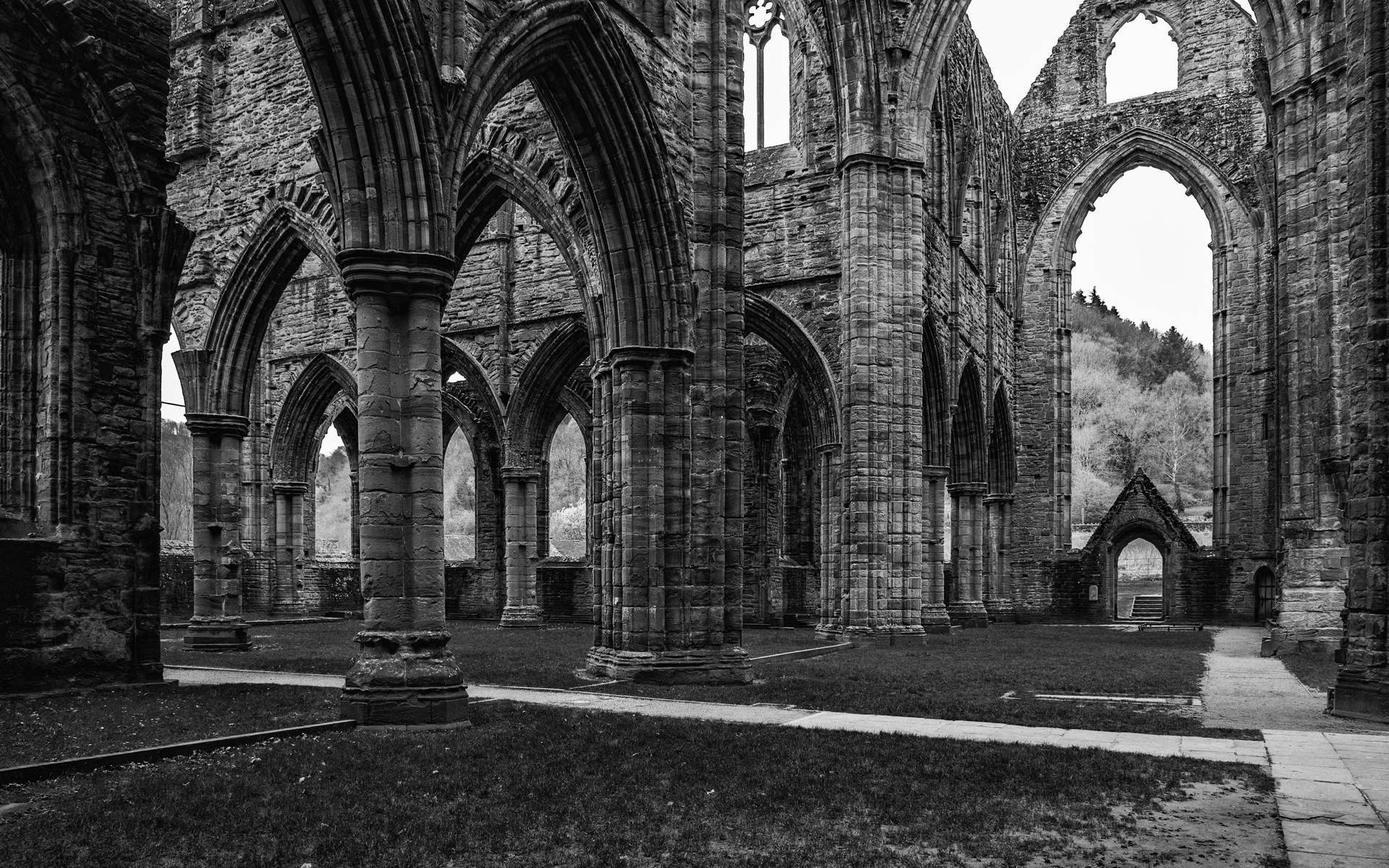 Inside the Abbey - this might be my favourite shot from the visit.