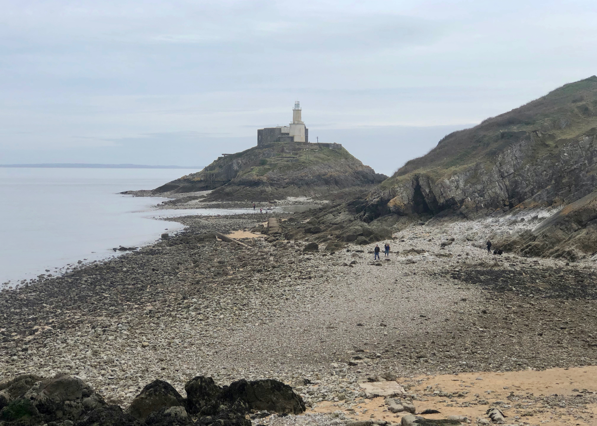 Mumbles Lighthouse, completed in 1794, sits on the outer of two islands off Mumbles Head, and is clearly visible from any point along the five mile sweep of Swansea Bay.