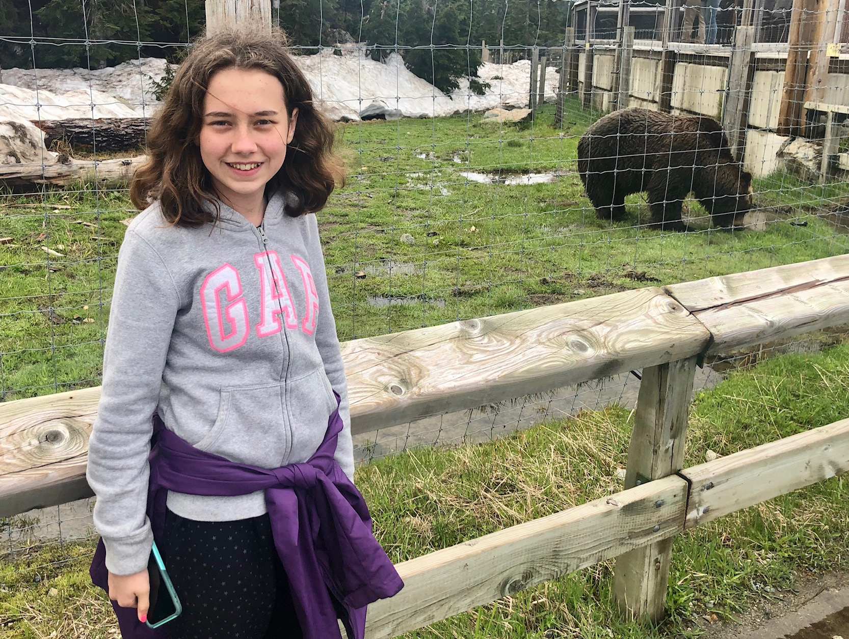 No, we didn't try to feed her to the bears…