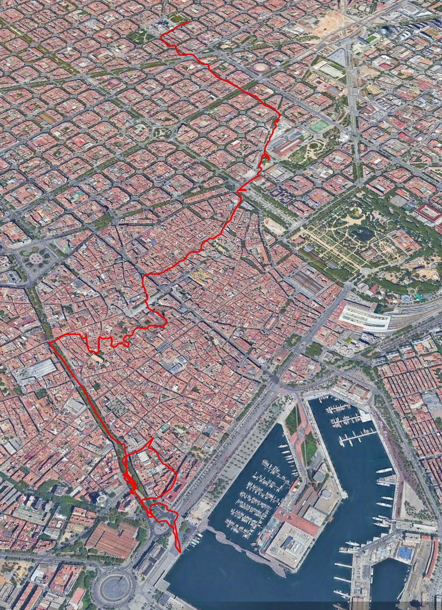 My full day wandering on Sunday in Barcelona. I covered some pretty good ground all things considered.