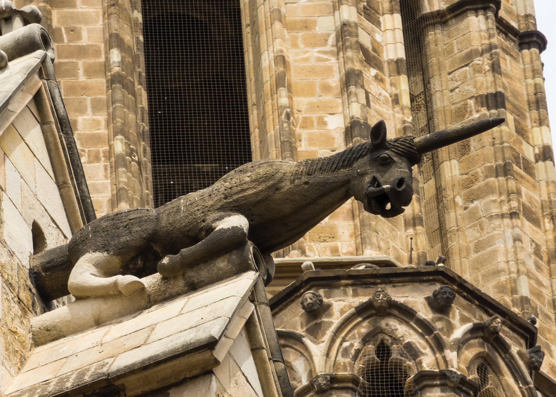 One of the gargoyles on the cathedral.