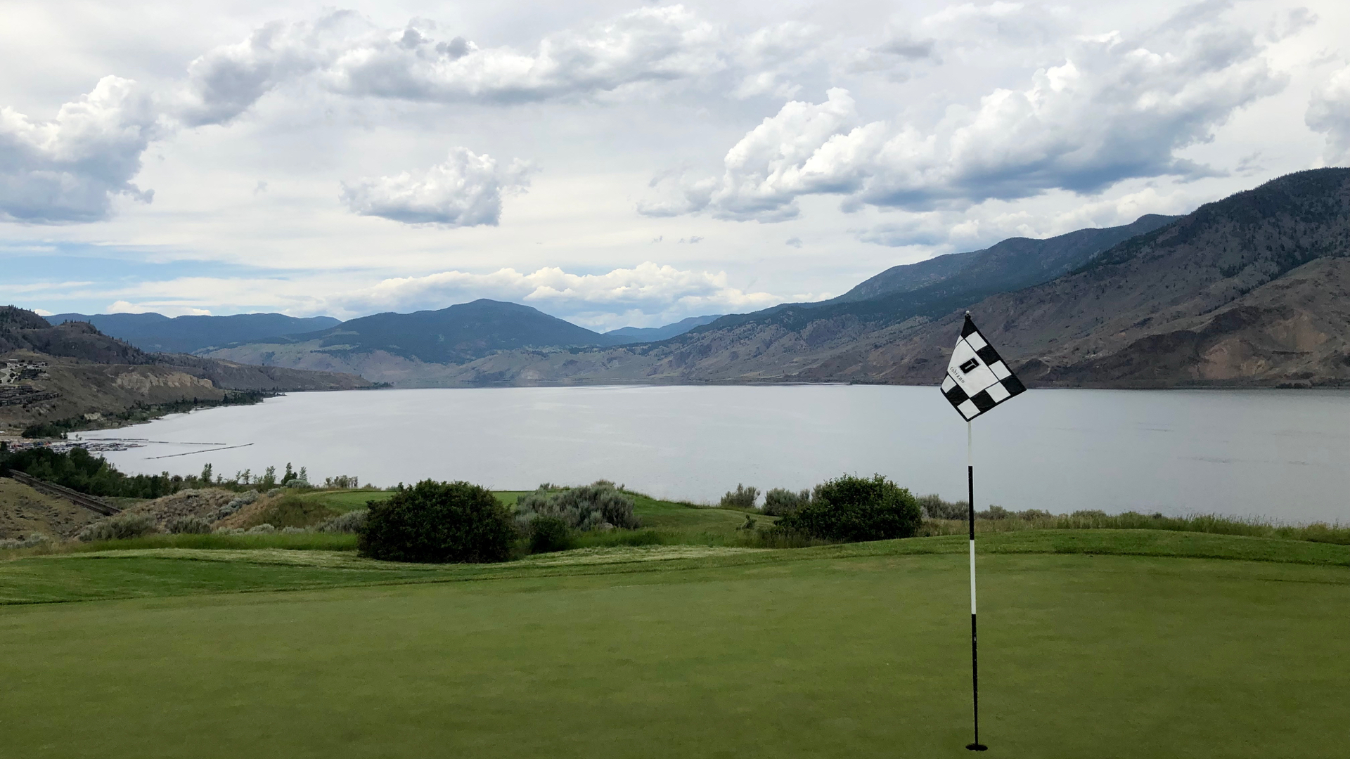 The lake was a dominant feature from many places on the course.