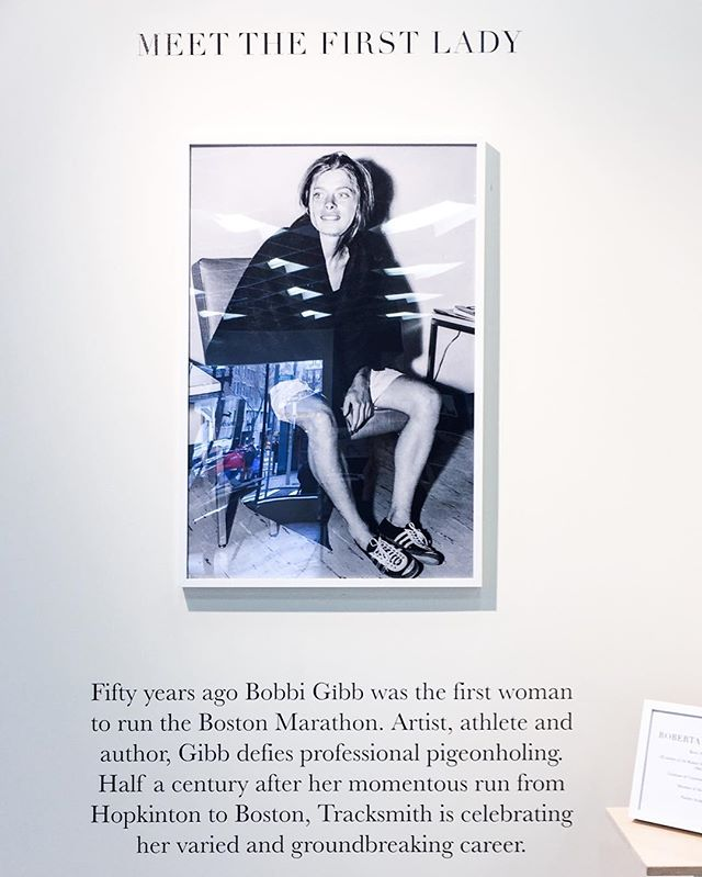 From the lovely @tracksmith exhibit in honour of Bobbi Gibb, the first woman to run the Boston Marathon. The face of spunk, courage & mojo. 👊🏻🏅🐎 ................. #boston2016 #bostonmarathon #igboston #igersboston #boston #bostondotcom #bostonworld #followingboston #bostondaybook #igersmass #igersnewengland #igersusa #igworldclub #bobbigibb #ig_northamerica #TheAmericanCollective #igers #instadaily #instagood #VscoGood #VSCOcam #vsco #huffpostgram #allcities #passionpassport #mytinyatlas #willjourney #darlingweekend #thatsdarling #runningroute