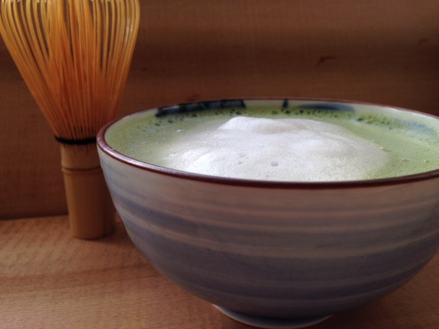 Matcha Latte all ready to go!