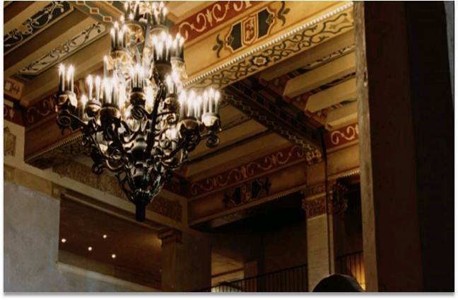 Detail from the lobby at the Hollywood Roosevelt hotel, where the first Academy Awards were held.