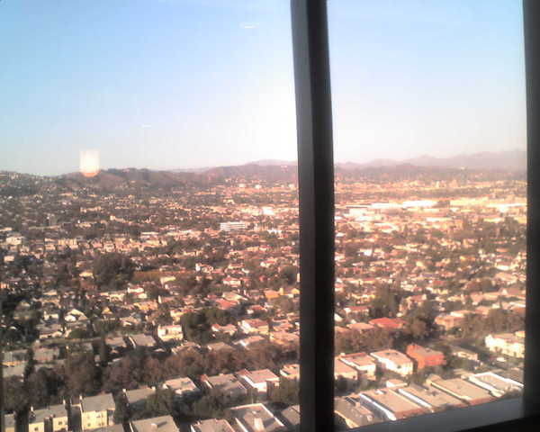 View of the Hollywood Hills from my agent's office on Wilshire Blvd