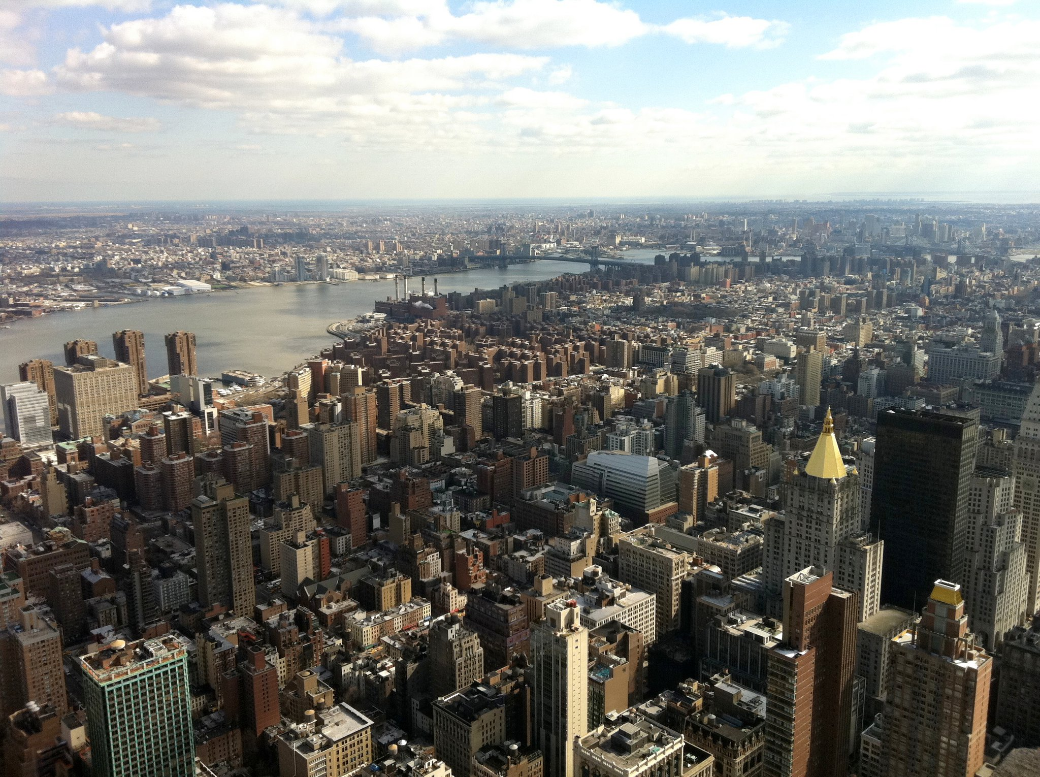 Top of the Empire State Building. Getting to the top in NYC was not easy.