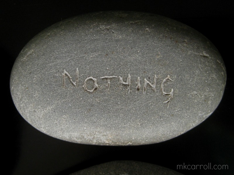 """""""Nothing is carved in stone"""" - that'll be my Dad's sense of humor for you"""