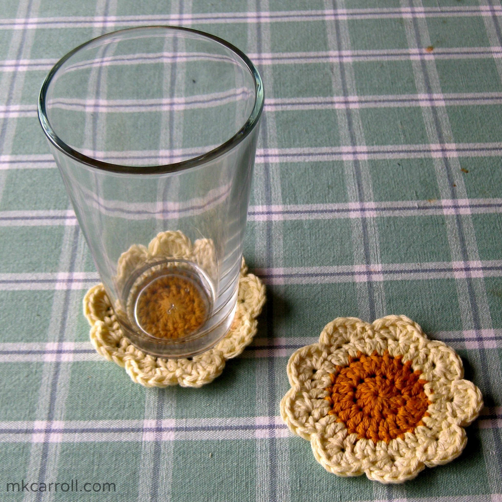 Crochet drink coasters