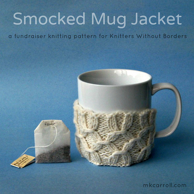 Smocked Mug Jacket knitting pattern by M.K. Carroll