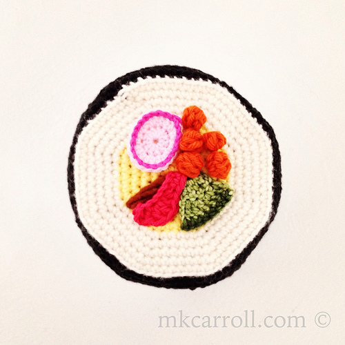 Crochet sushi TP cozy revisited