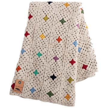 Granny square blanket, available at Oddbirds.nu
