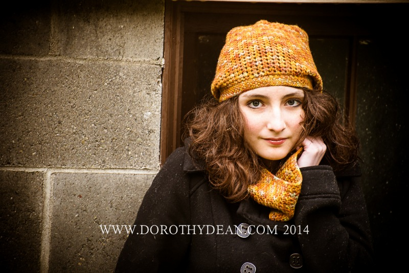 Proserpine Hat & Cowl crochet pattern set
