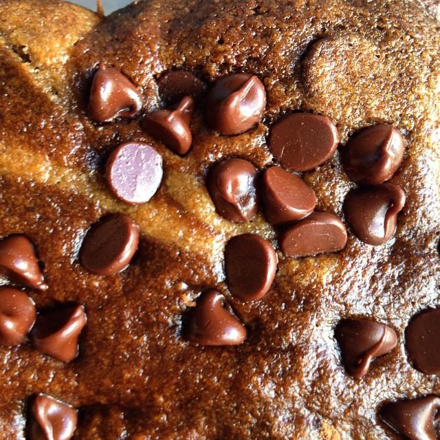 Whole wheat chocolate chip cinnamon banana bread
