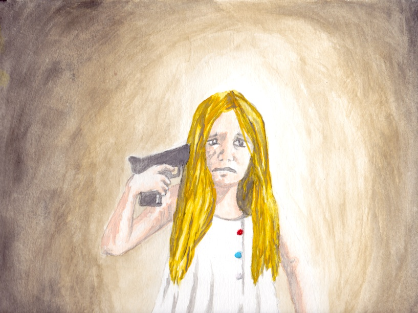 """Innocence lost, can never be regained.""  Don't Do It.  (Water color, 12x9)   Purchase Inquiry"