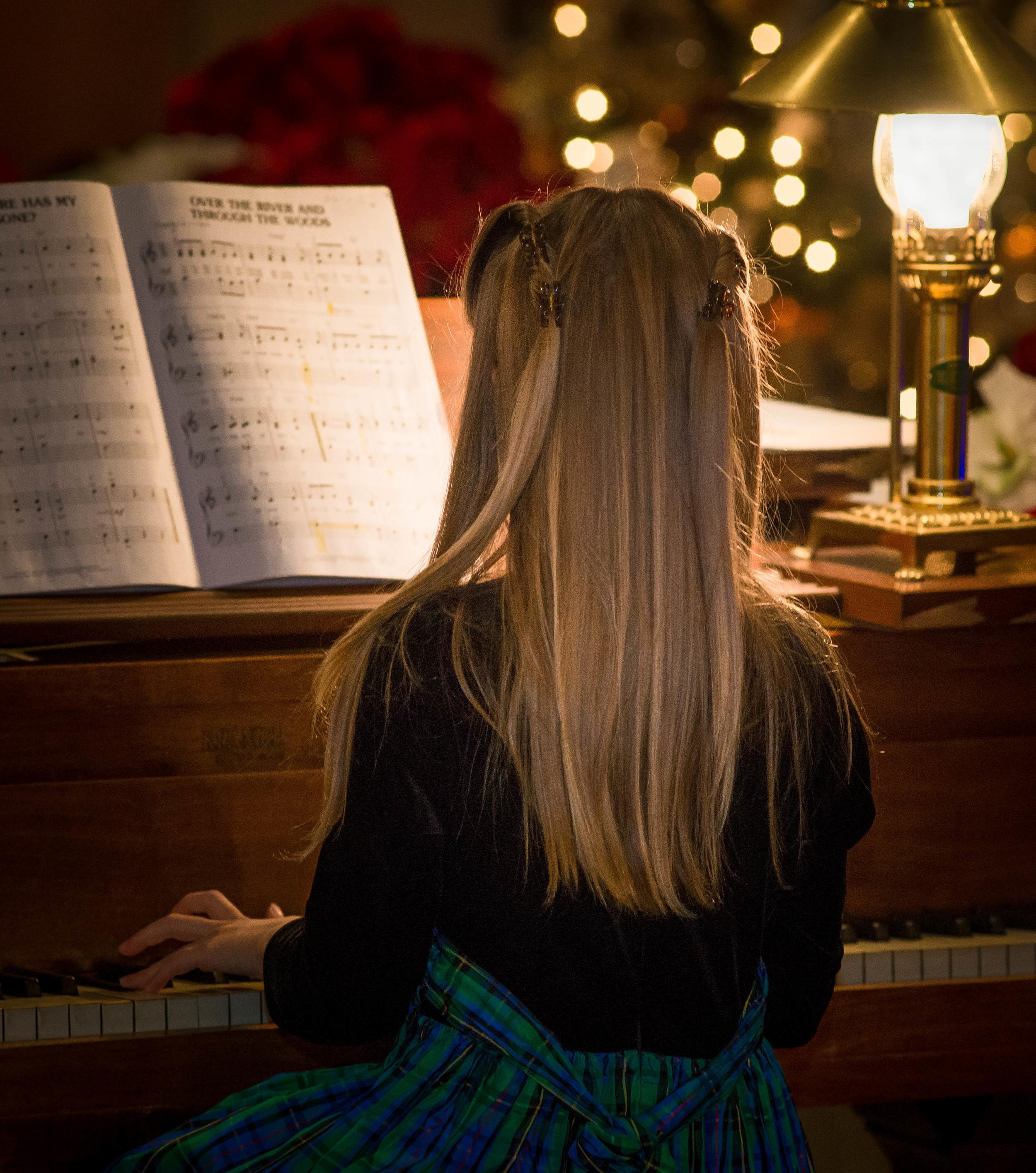 Student at Piano