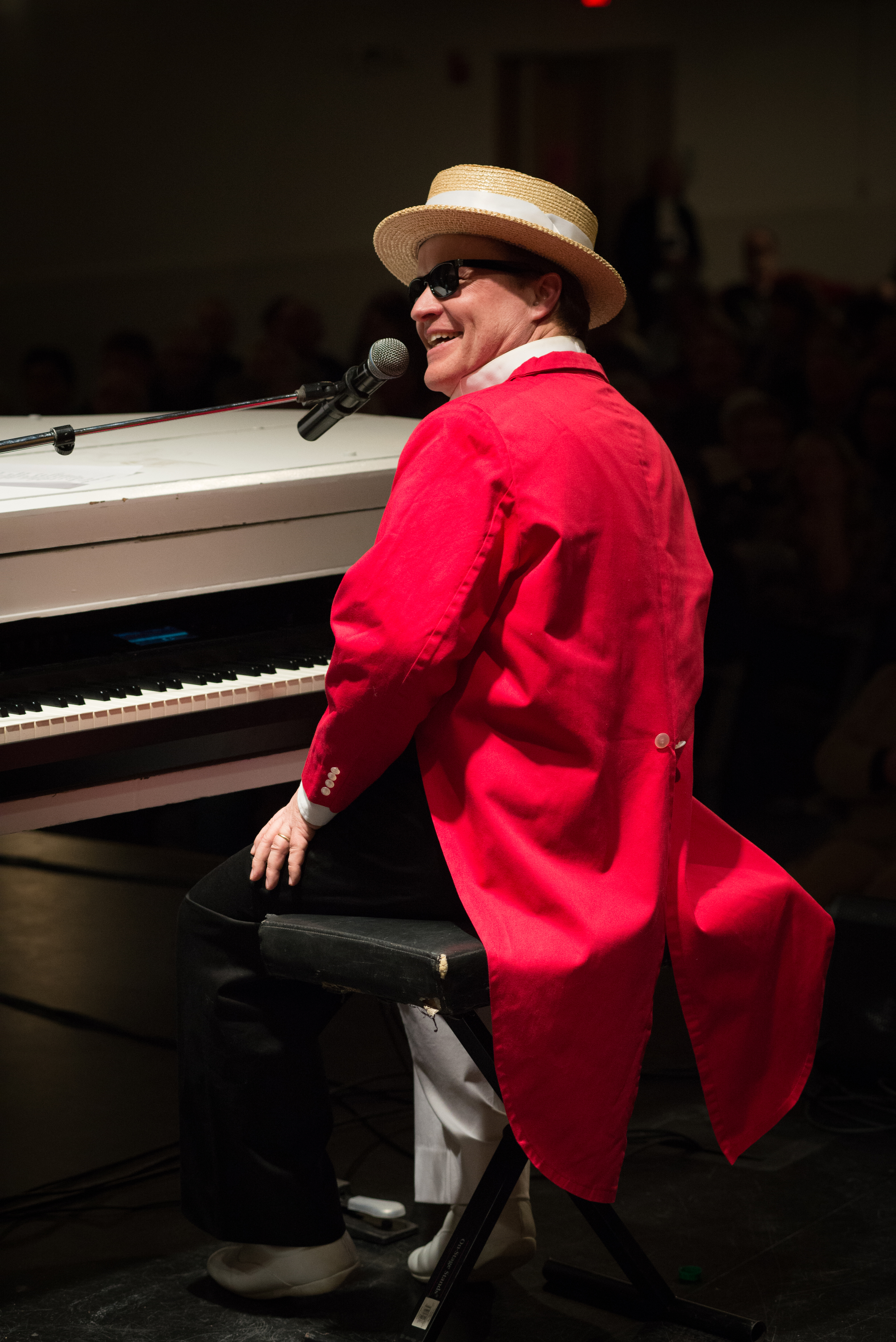 Pianist in Red