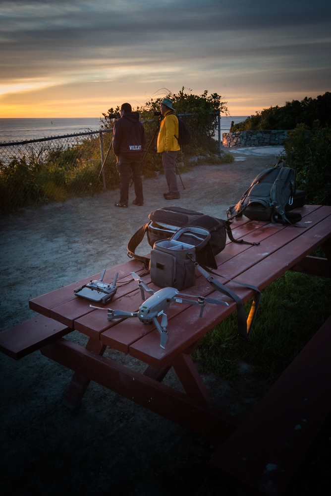 Photographers at Portland Head Light before Sunrise