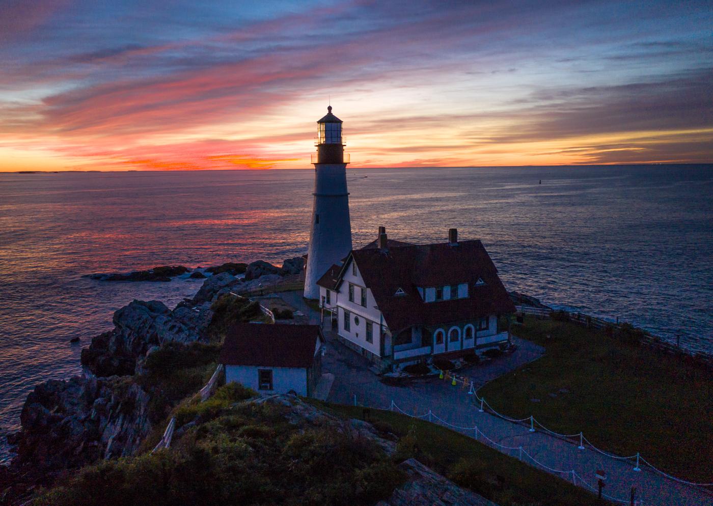 Portland Head Light before Sunrise