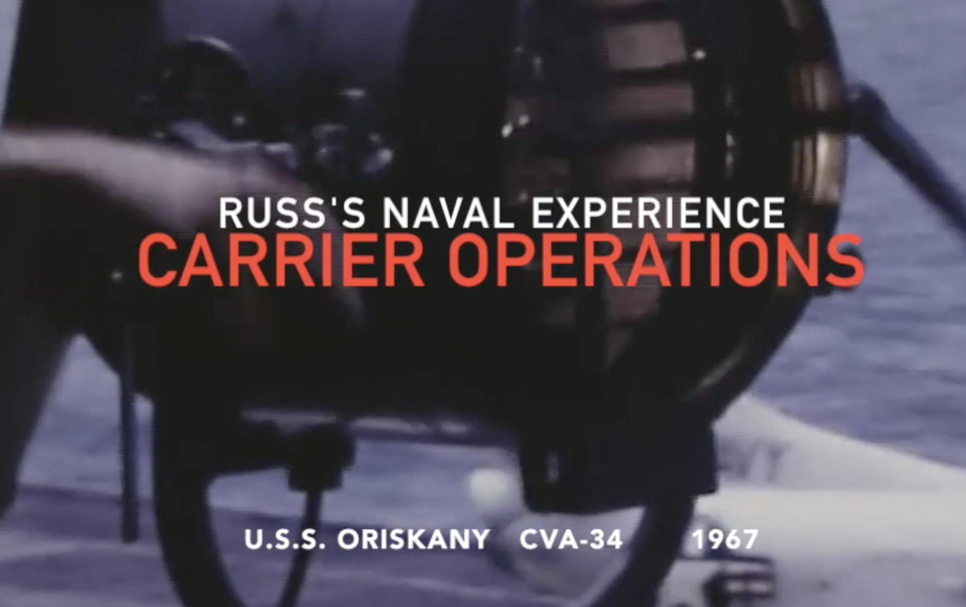 Russ's days on the USS Oriskany