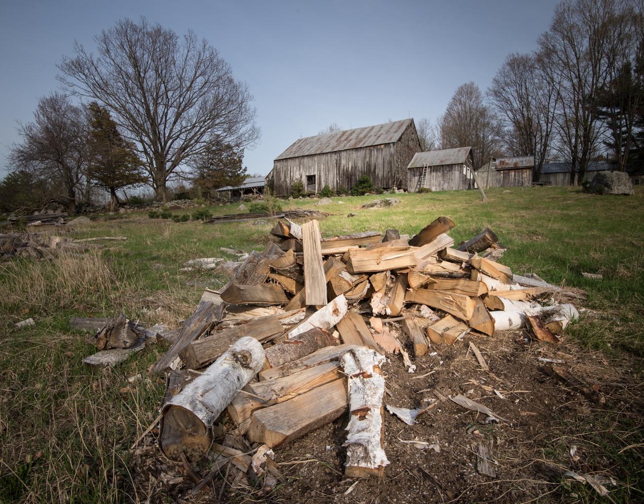 Rural Woodpile