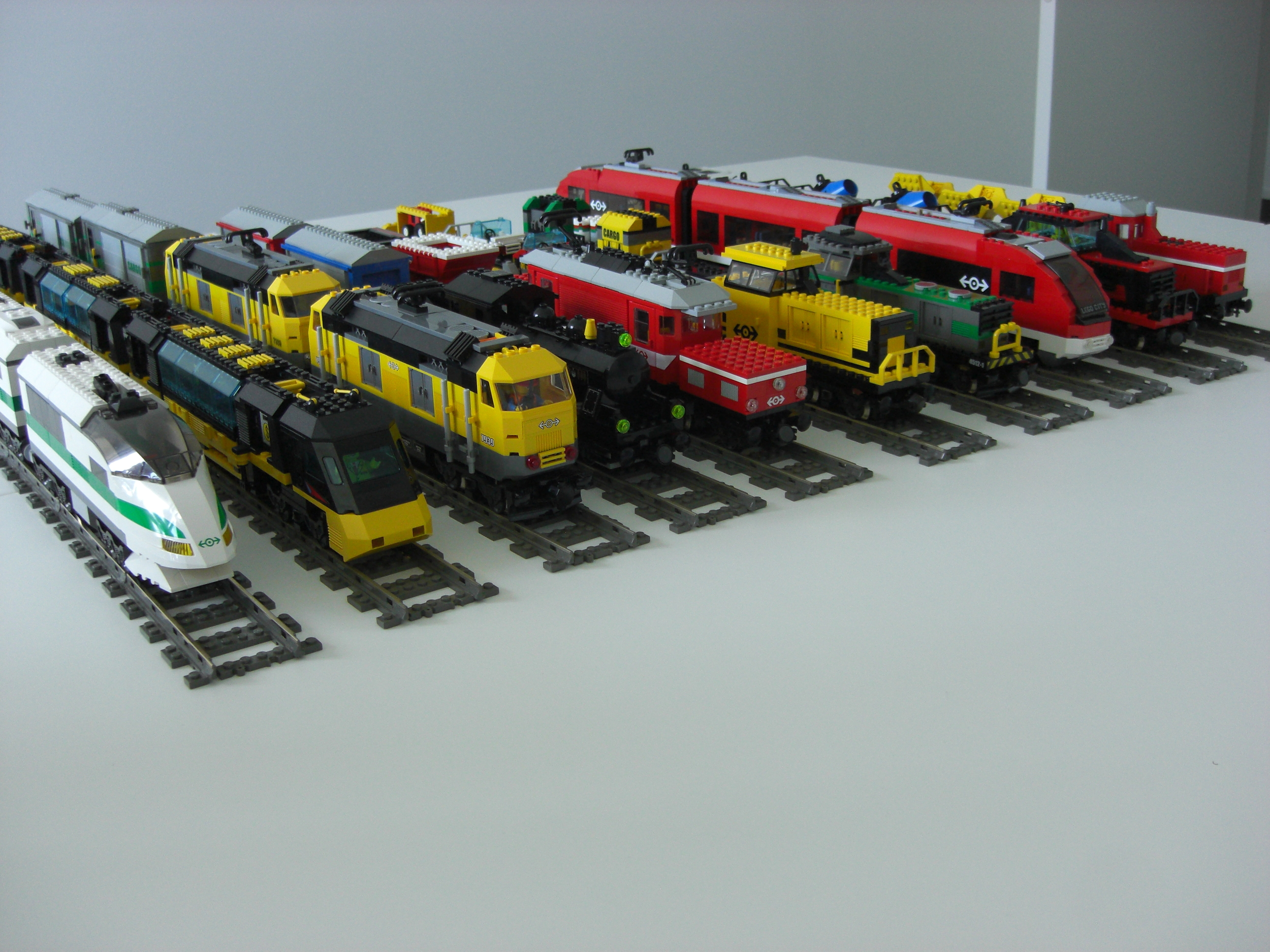 Trains bought mostly on eBay.