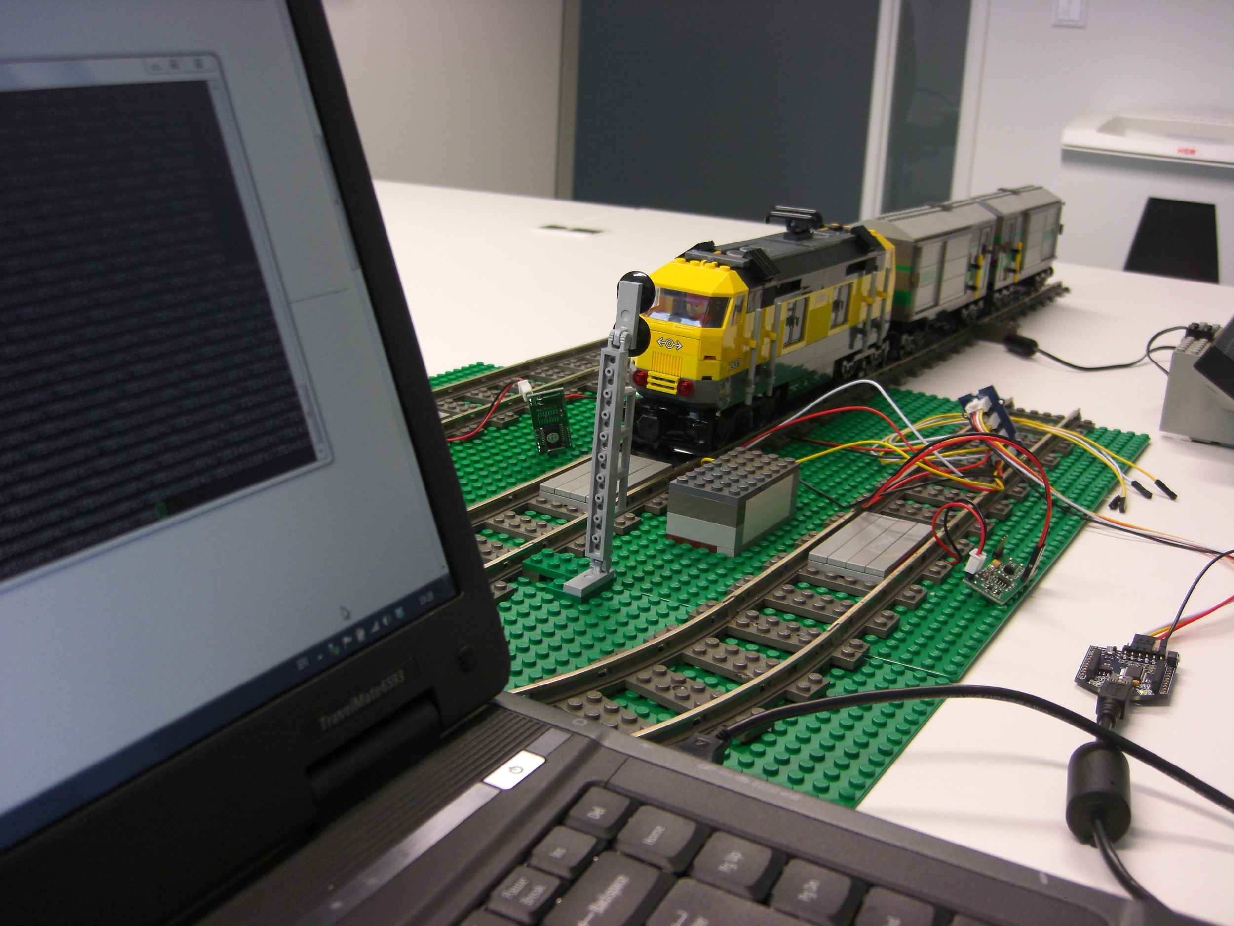 Terminal application showing the data coming from the RFID reader