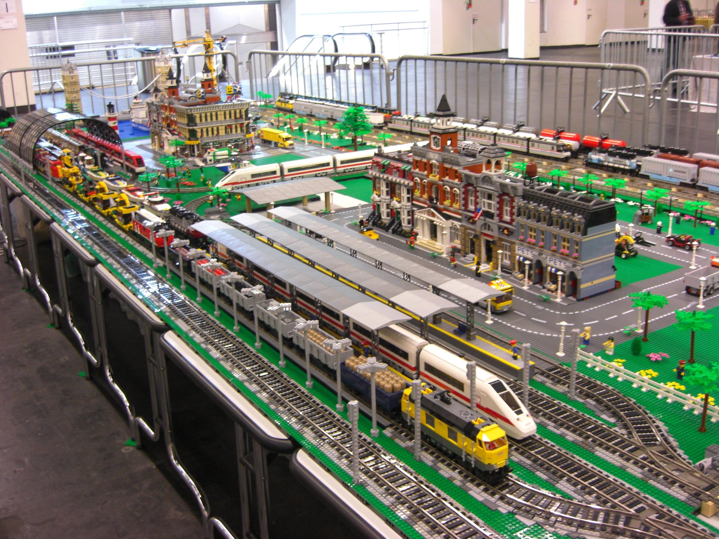 My LEGO train layout at Fanwelt 2012