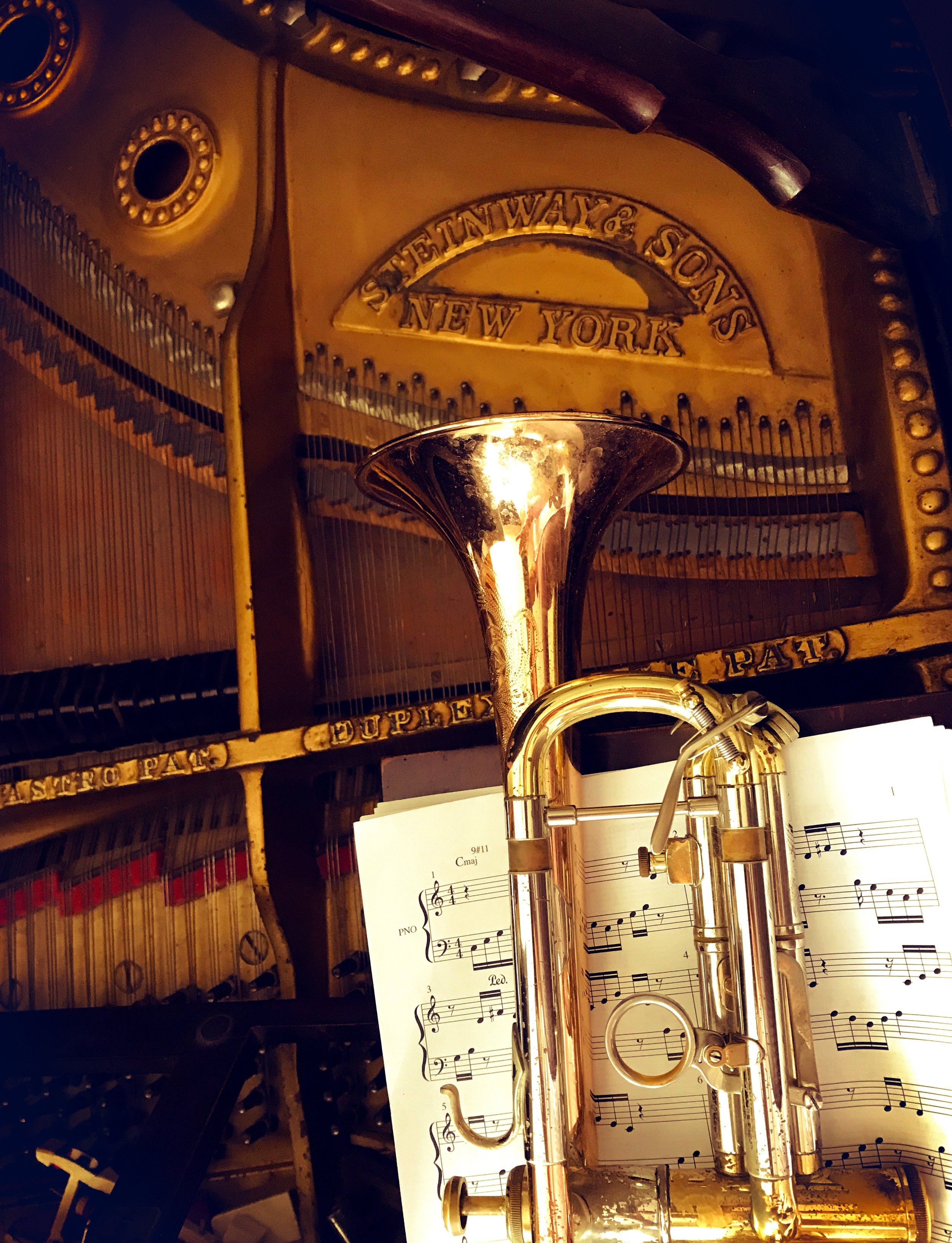1926 STEINWAY Concert Grand Piano - 1976 OLDS Recording Trumpet