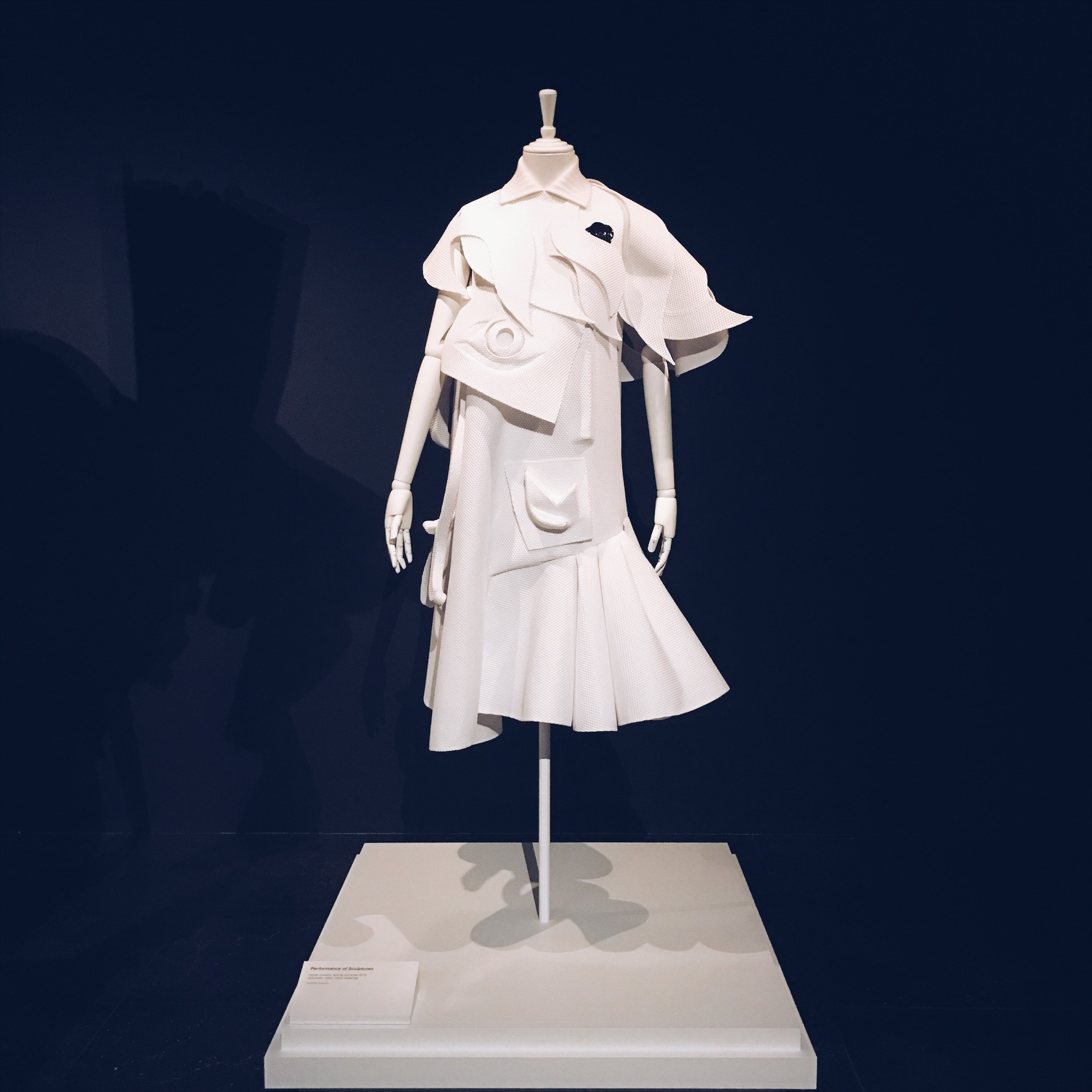 An all white gown made of Piqué, image Ms Amy Farrell