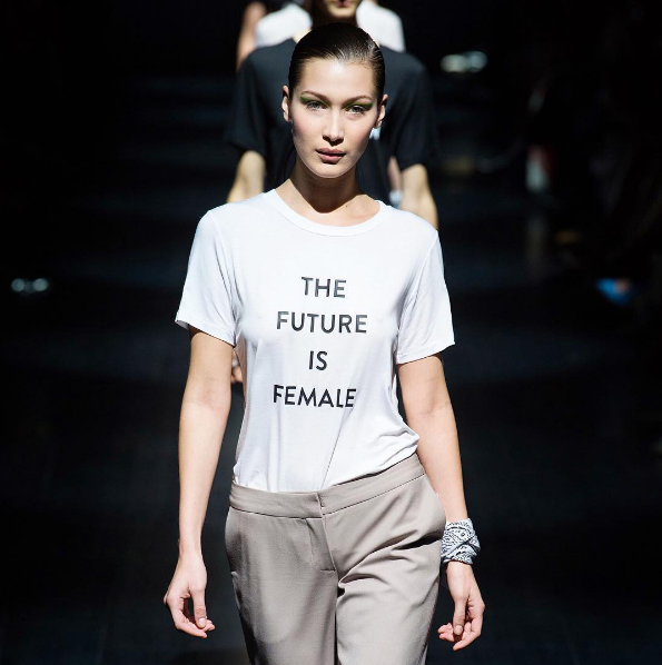 Bella Hadid at Prabal Grunung, via The business Of Fashion
