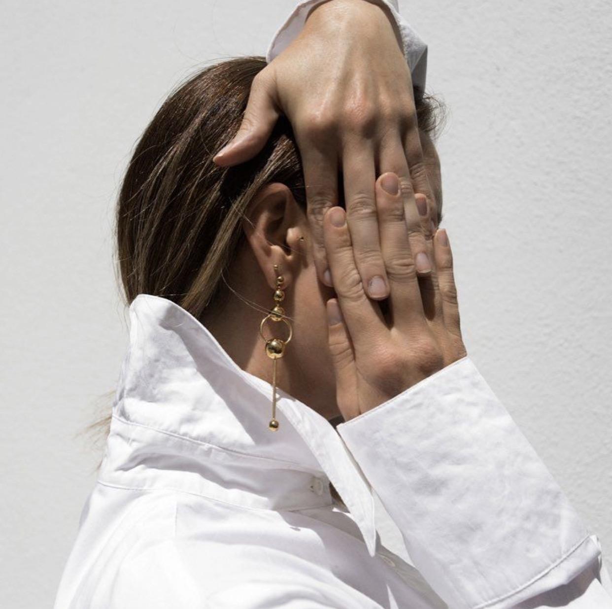 Sarina Suriano, Orbita Earrings  - image via Oracle Fox