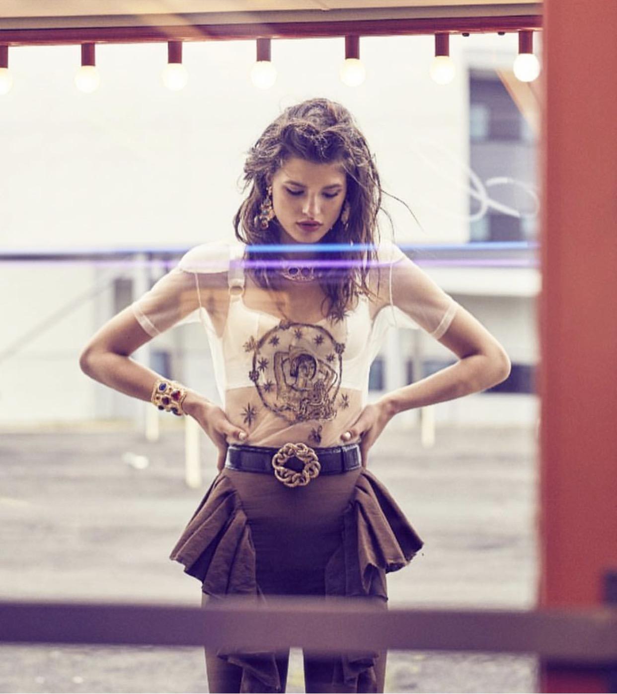 Christie Nicolaides, Agnes Earrings  - Image via Vogue Australia