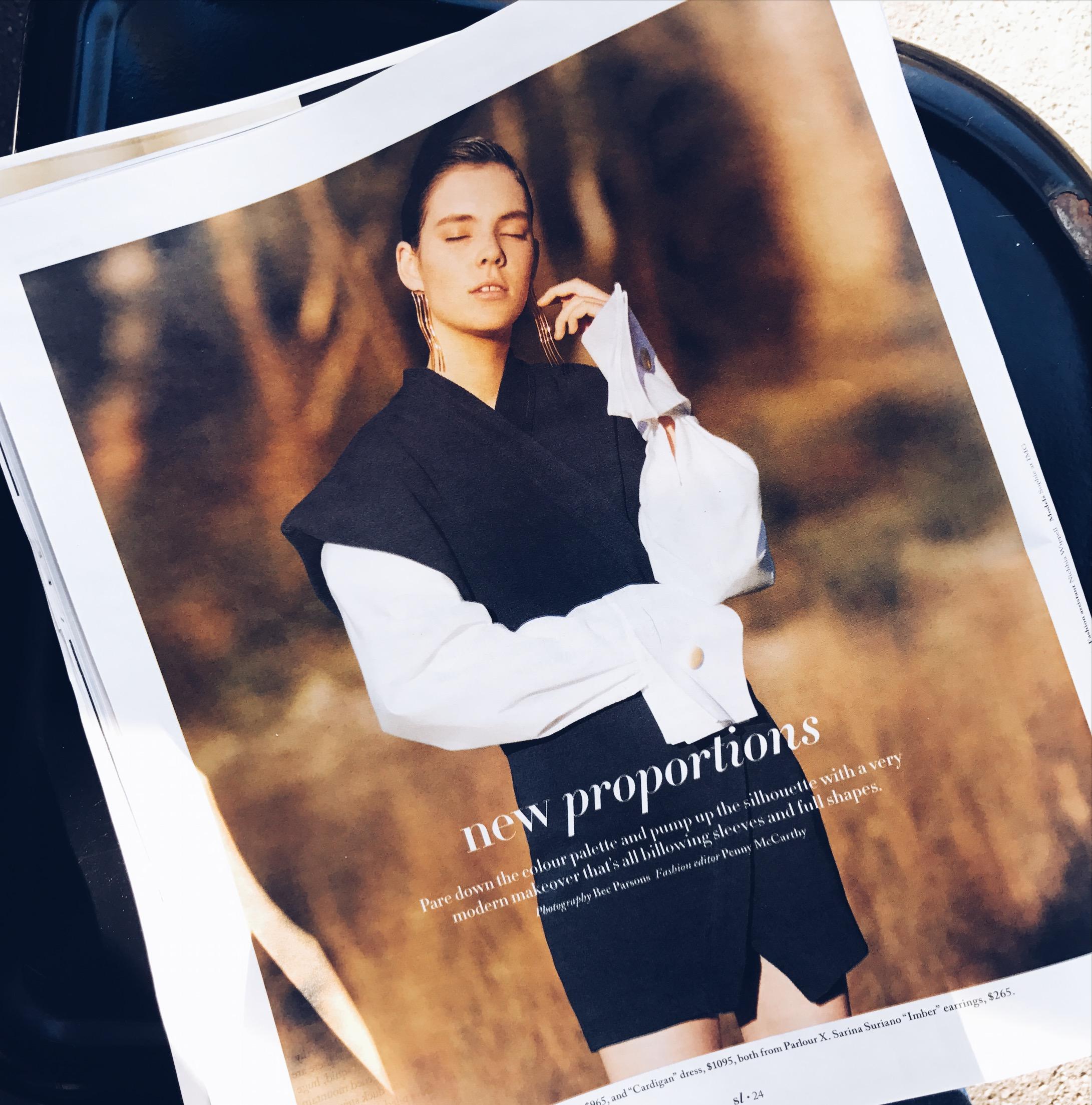 Trends: Subtle Autumn statements, Sarina Suriano as featured in Sunday Life Magazine