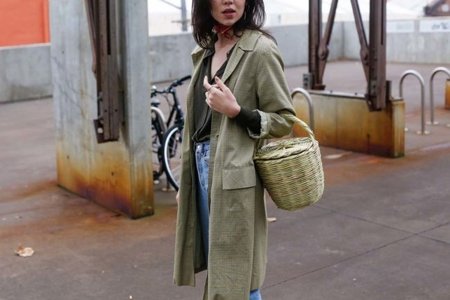 The Basket Bag,  captured by the Street Smith for Vogue Australia