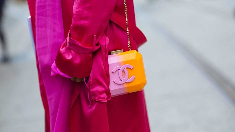 Two-tone Chanel, captured by Style Snooper Dan for Harpers Bazaar Australia