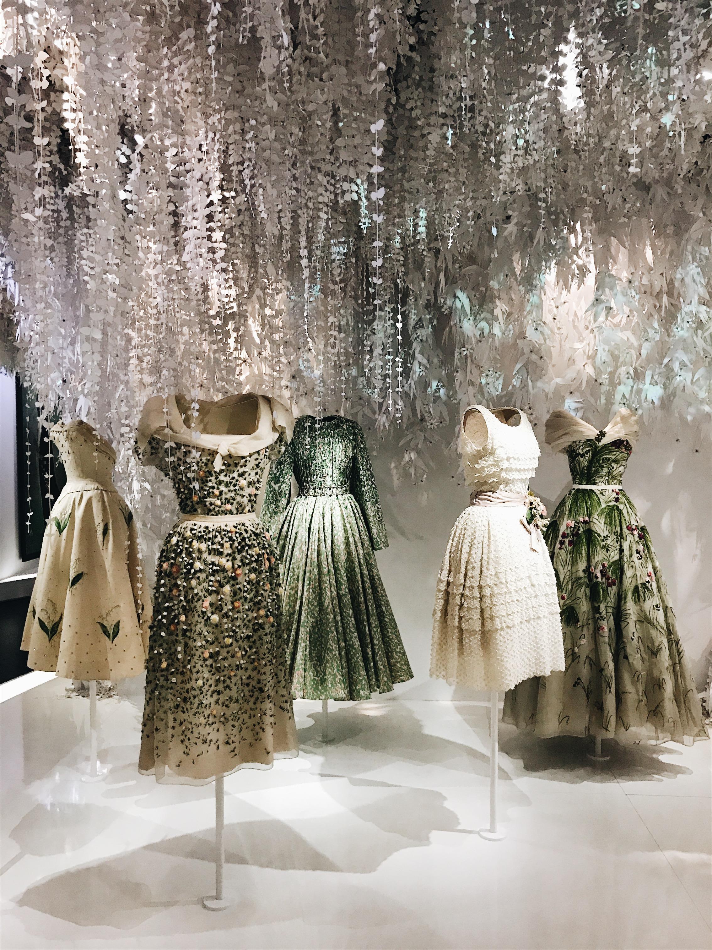The Dior Gardens, a highlight of the exhibition