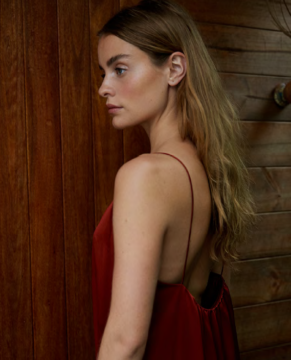 NATALIJA Floor length silk dress