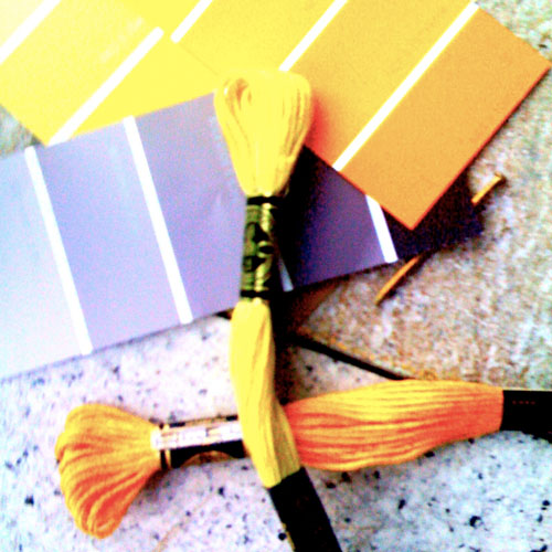 iPhone photography: colour samples for paint