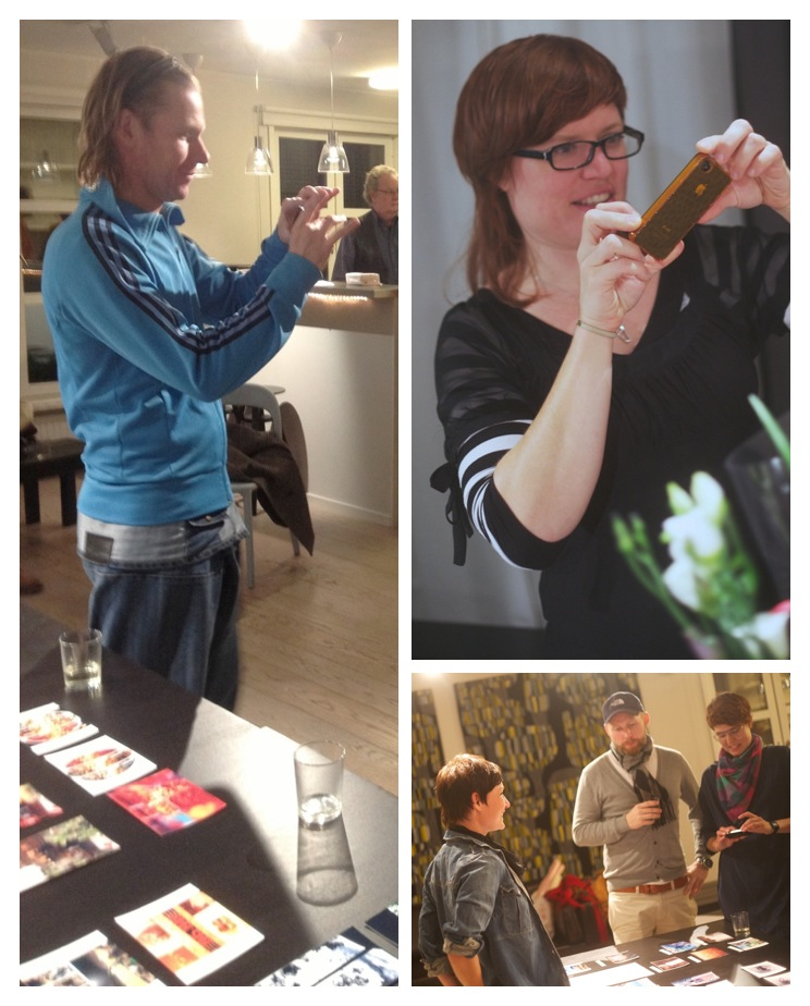 The guests at Anne Vilemsons Art Show become inspired and try their hand at Creative iPhoneography.