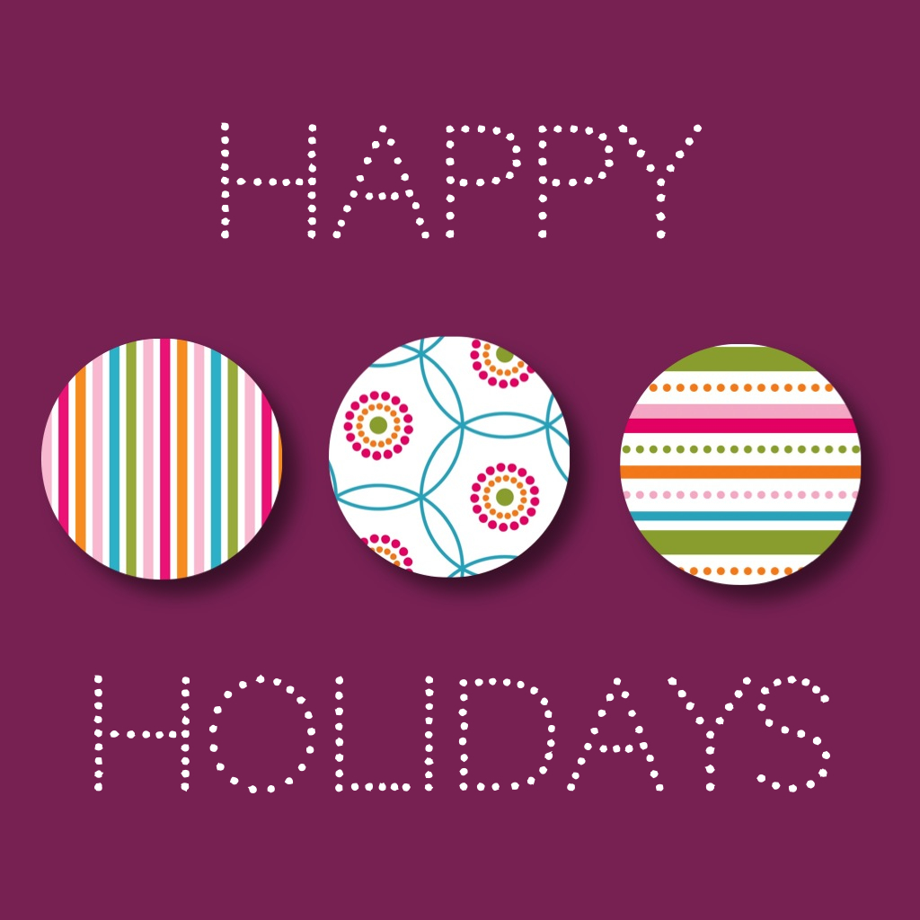 i Phone collage: Modern, graphic Happy Holidays Card by designer Jennifer Bishop .