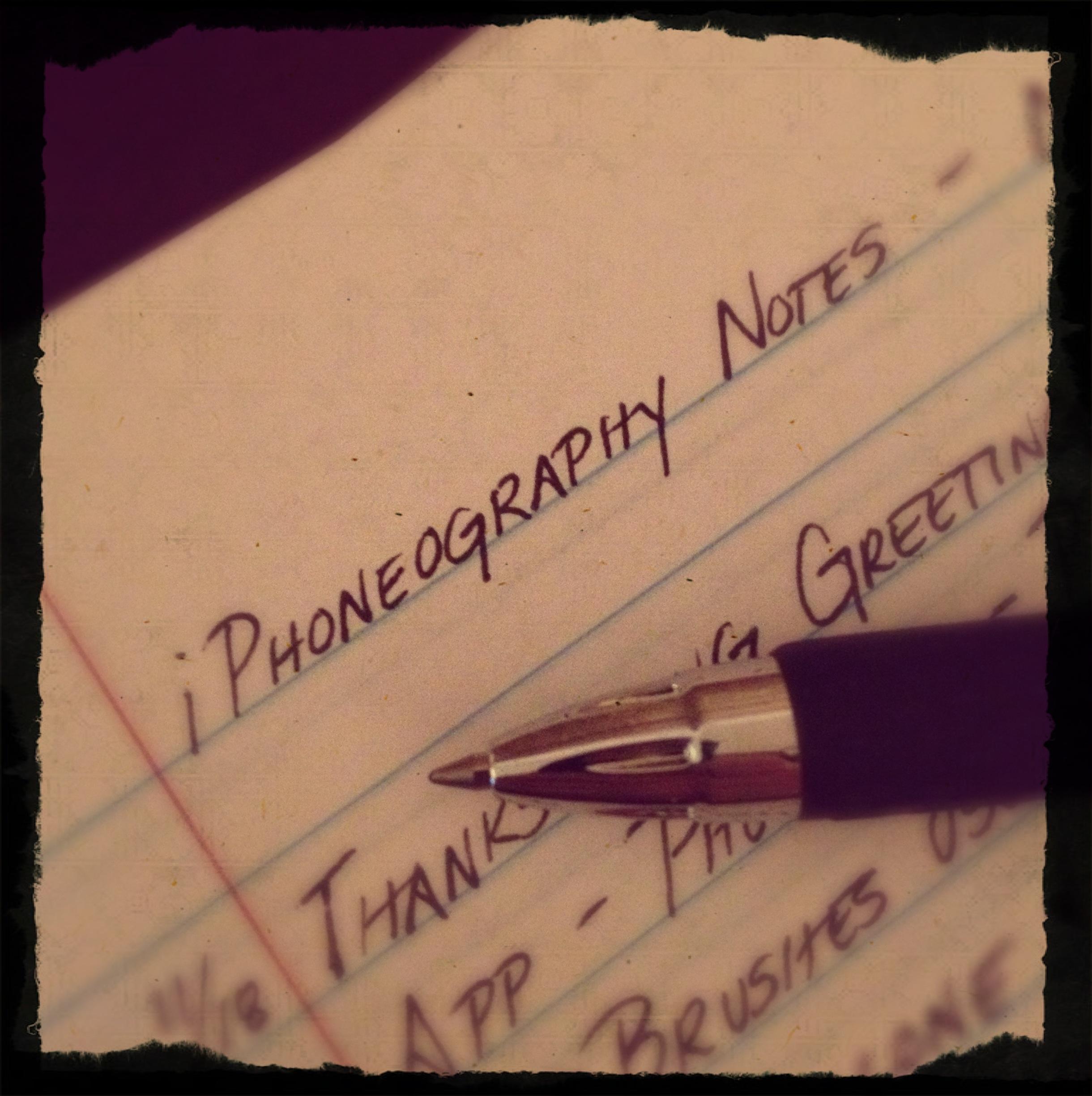iPhoneography Notebook byJennifer Lynn Bishop