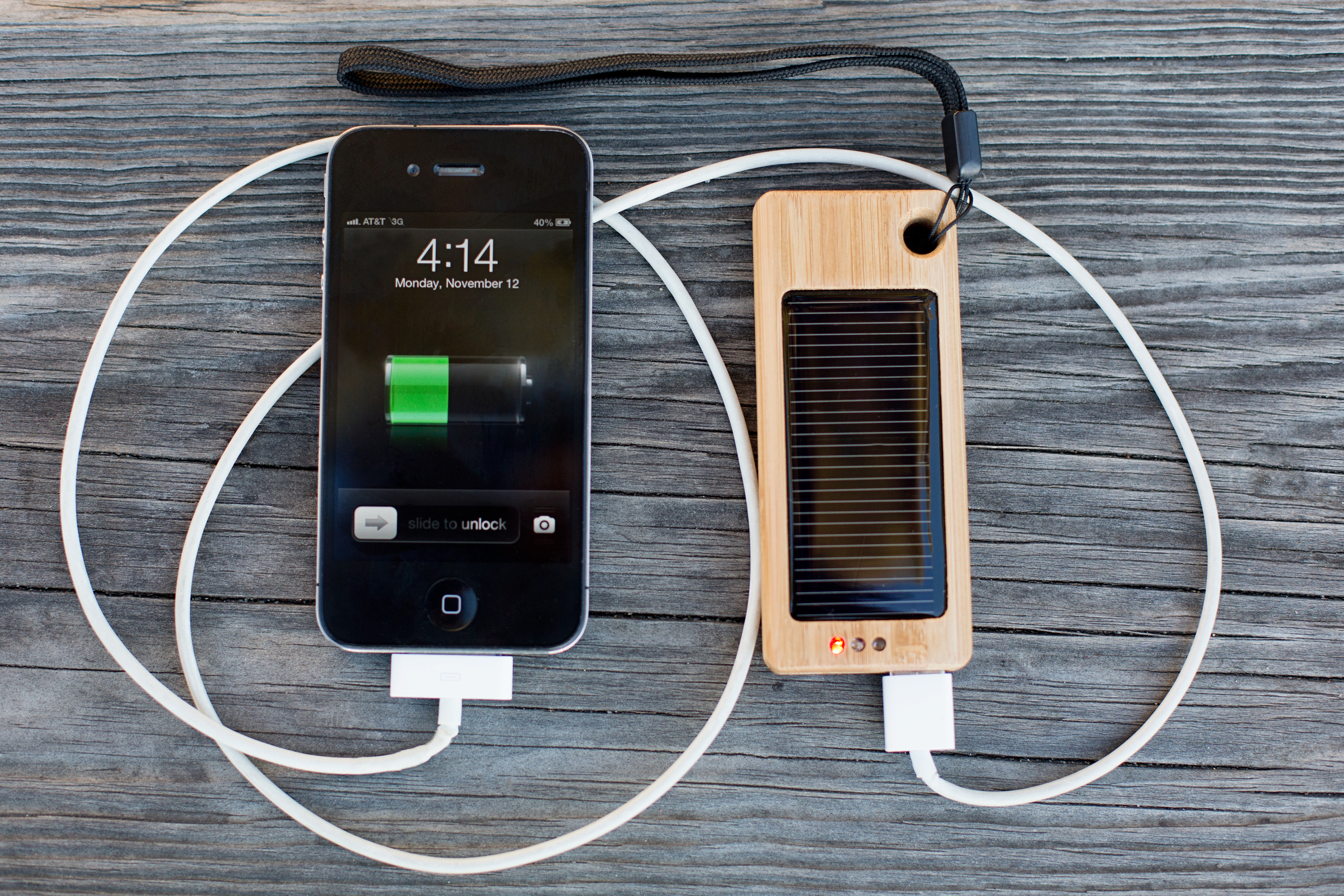 Bamboo Solar Charger