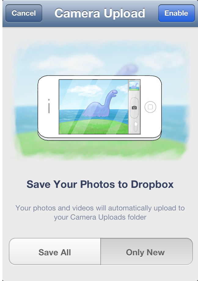 Backing up your photos with Dropbox