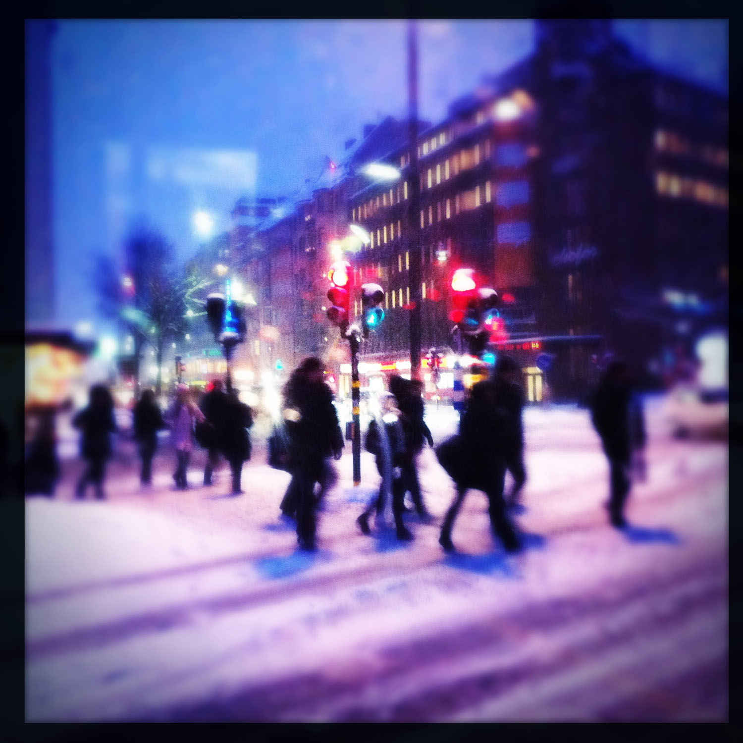 iPhone photo: snowy crossing