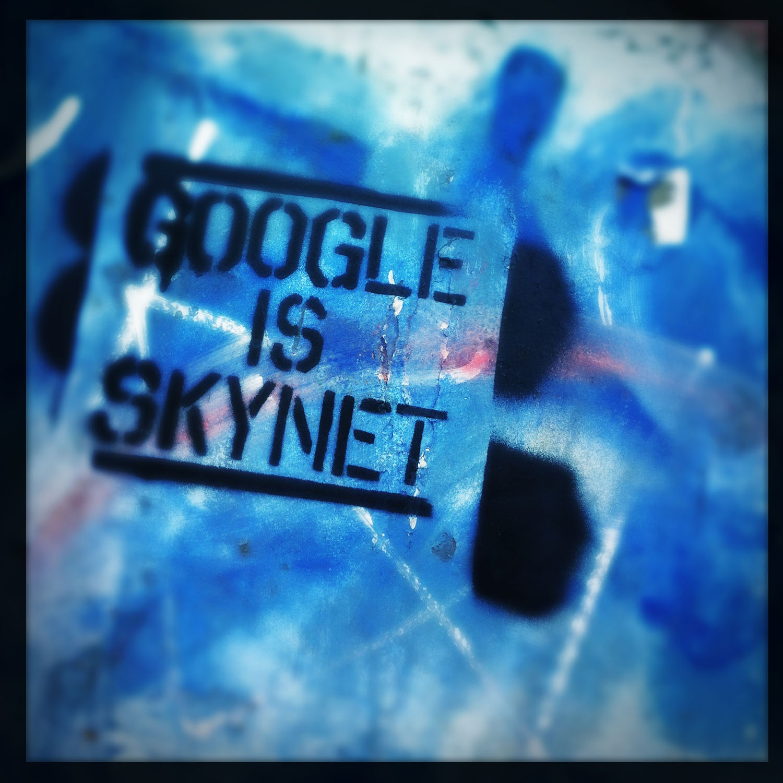 iPhone photo: Google is Skynet. Graffiti.