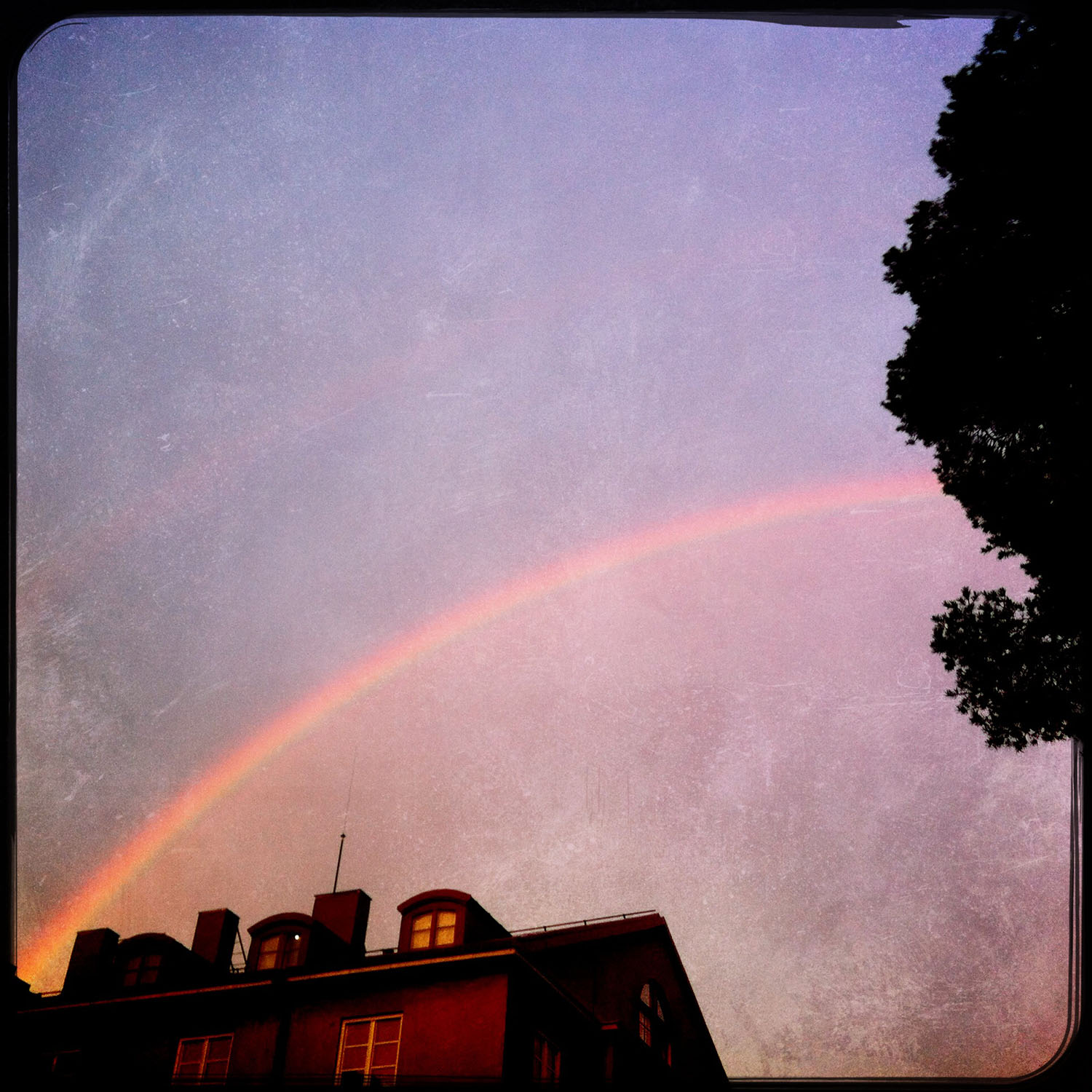 Double Rainbow. iPhoneography by Kate England
