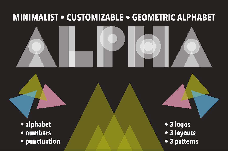 Geometric Alphabet by Kate England.