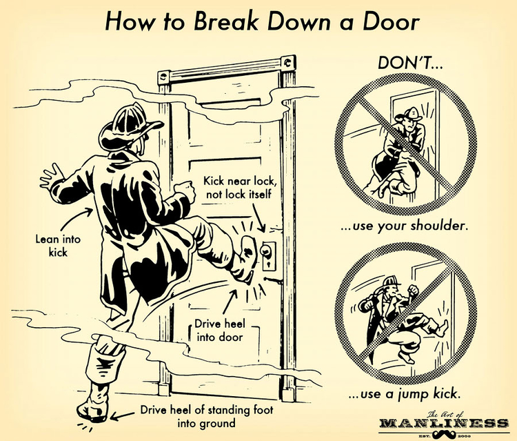 (via  How to Break Down a Door: An Illustrated Guide | The Art of Manliness )